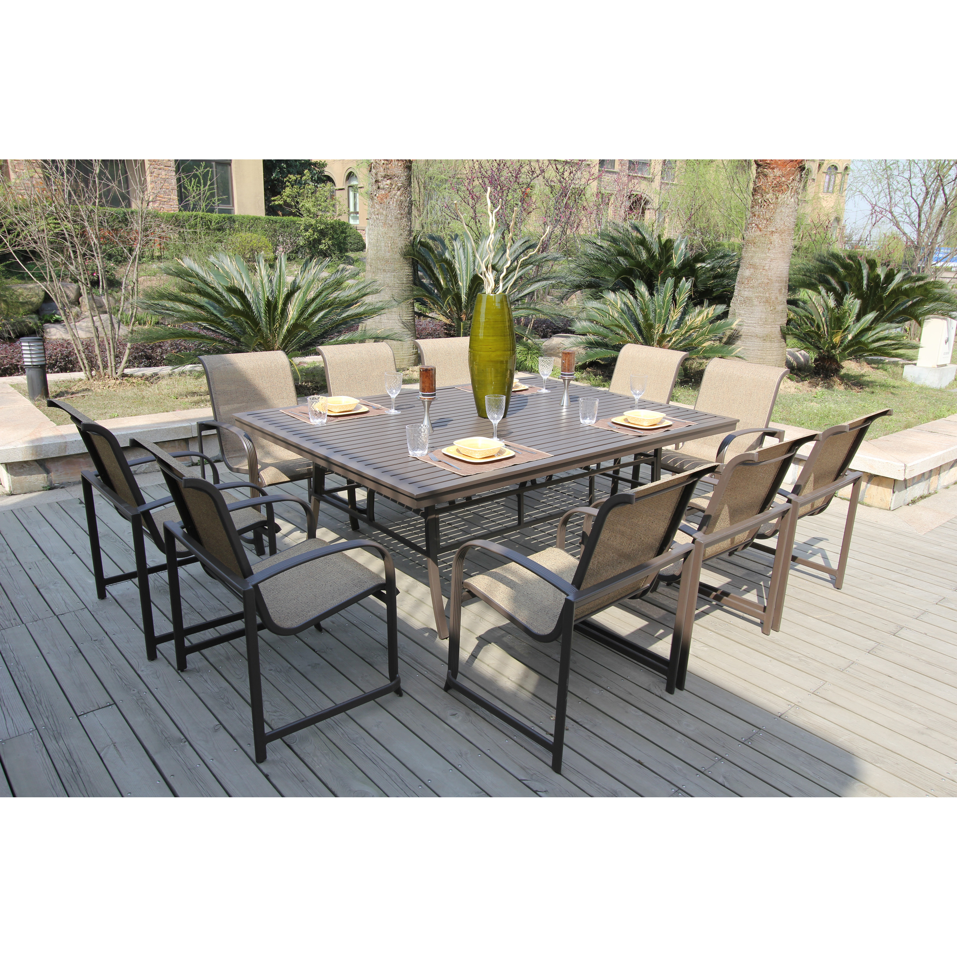 22 simple patio dining sets seats 10 for Outdoor dining sets for 10