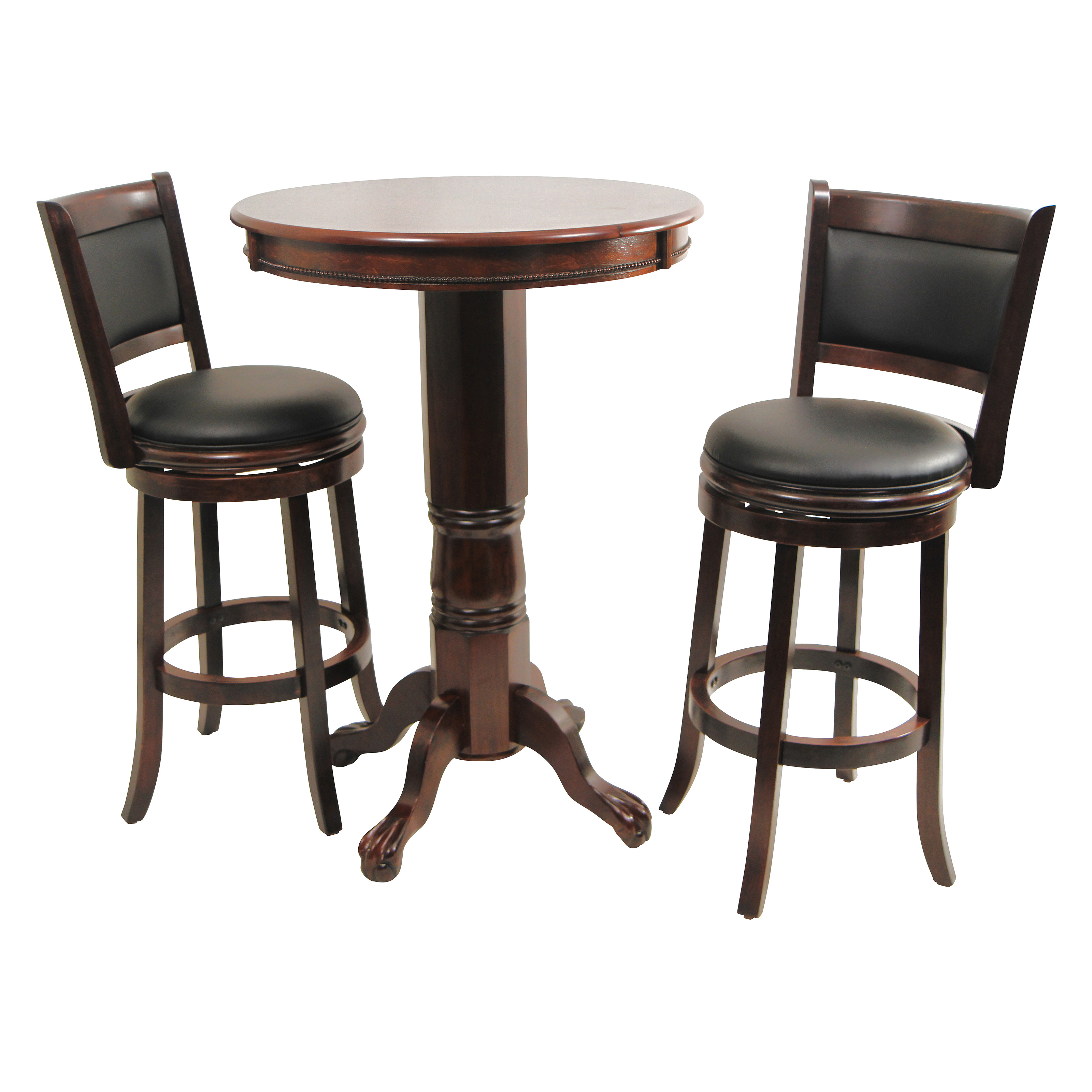 Boraam augusta 3 piece pub table set cappuccino bar for Table and chair set