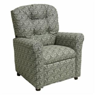 Brazil Furniture 4 Button Back Child Recliner - Little Tiger