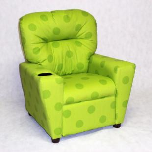 Brazil Furniture Cupholder Child Recliner - Oxygen Chartreuse