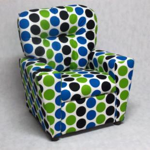 Brazil Furniture Cupholder Child Recliner - Fancy Wild