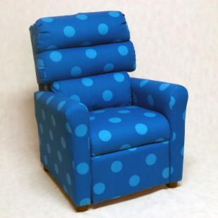 Brazil Furniture Waterfall Back Child Recliner - Turquoise Oxygen