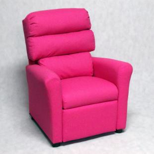 Brazil Furniture Waterfall Back Child Recliner - Dixie Pink