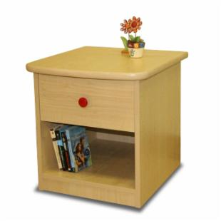 Sierra 1 Drawer Nightstand - Natural