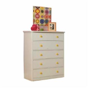 Sierra 5 Drawer Chest - White