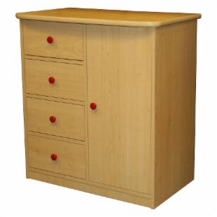 Sierra 4 Drawer Chest - Natural