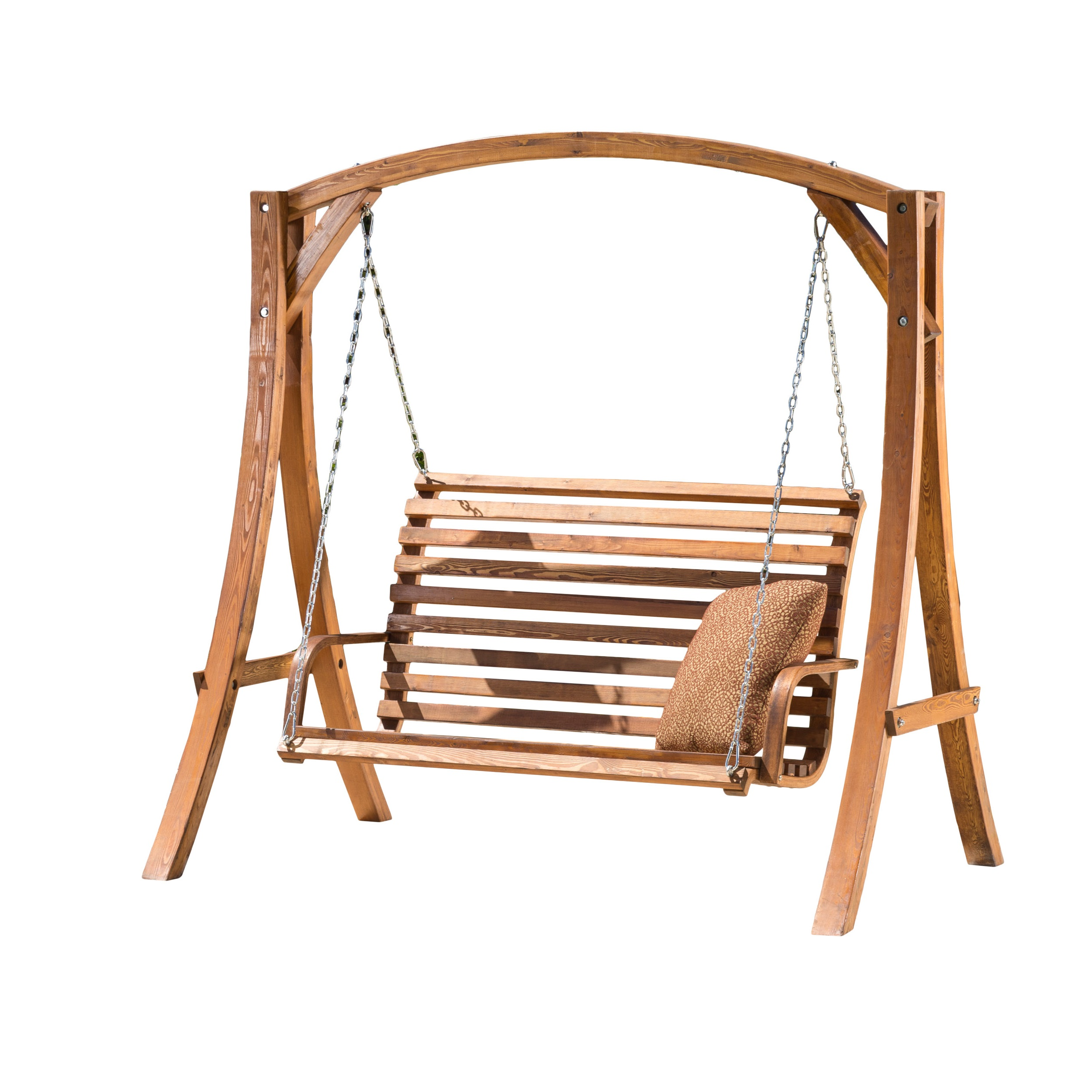 Best Selling Home Weyburn Wood Porch Swing - Porch Swings ...