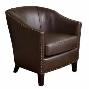 Brown Studded Club Chair