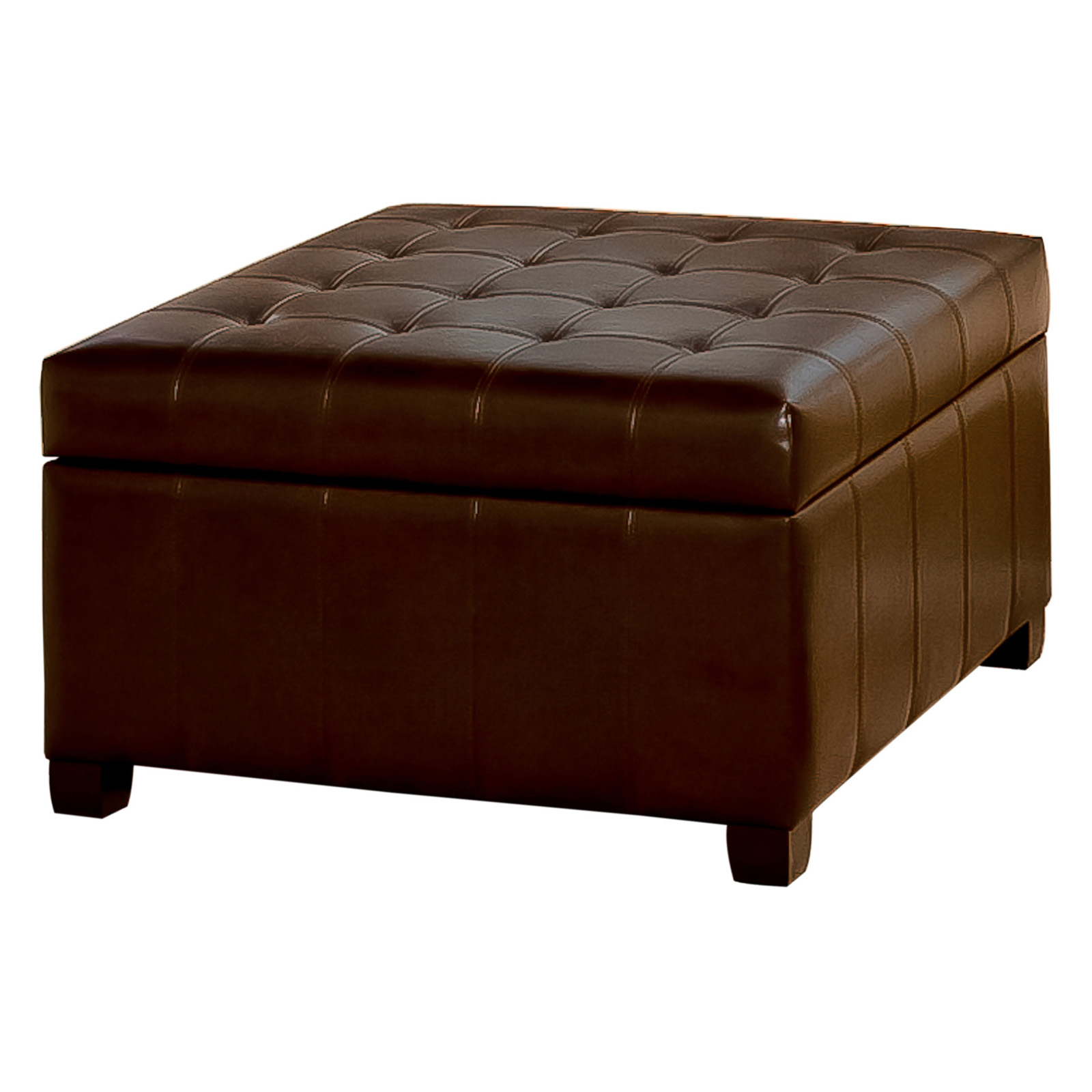 Fiona tufted leather storage ottoman ottomans at hayneedle for What is an ottoman for