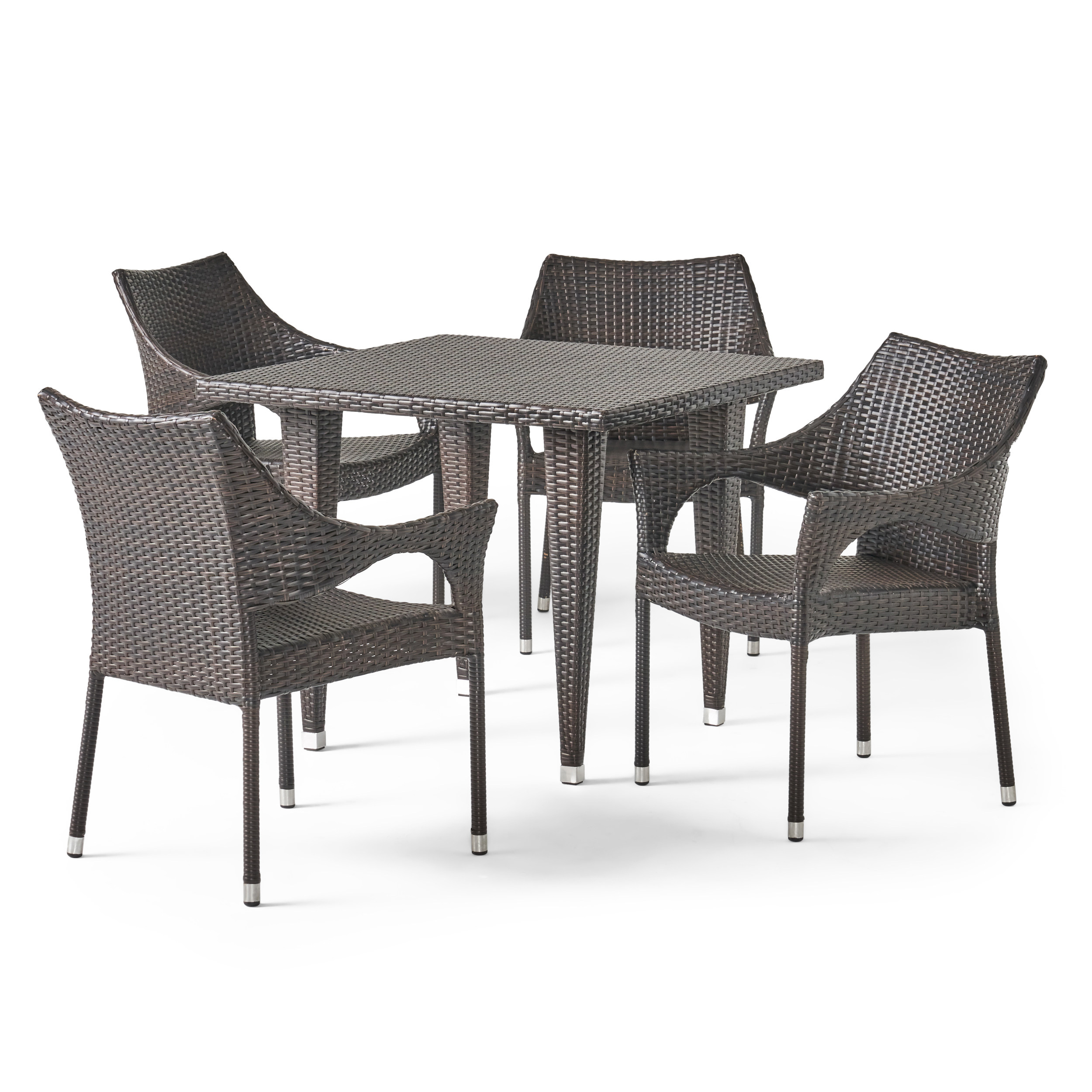Cliff All Weather Wicker Patio Dining Set Seats 4