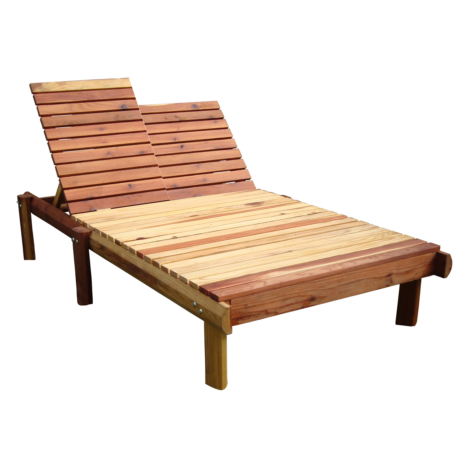 Best redwood double beach chaise lounge outdoor chaise for Beach chaise lounge