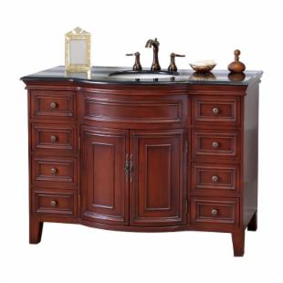 Bellaterra Home Savall 48-in. Single Bathroom Vanity with Optional Backsplash