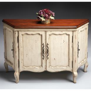 Butler Console Chest - Vanilla and Cherry