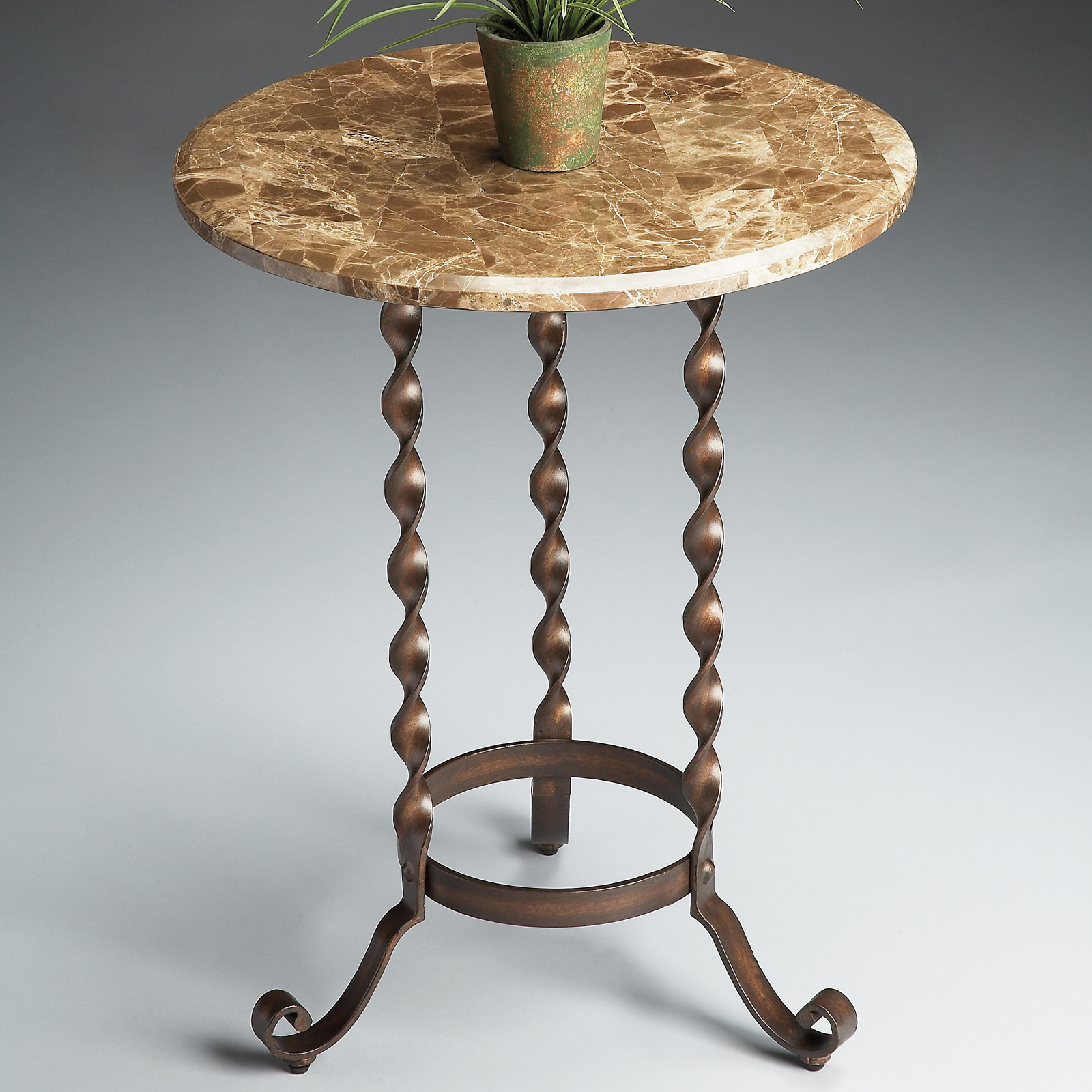 Butler Stone Top Accent Table Metalworks At Hayneedle