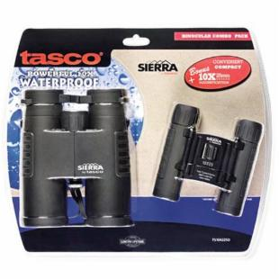 Tasco 10x42mm and 10x25mm Sierra Binoculars Combo Kit