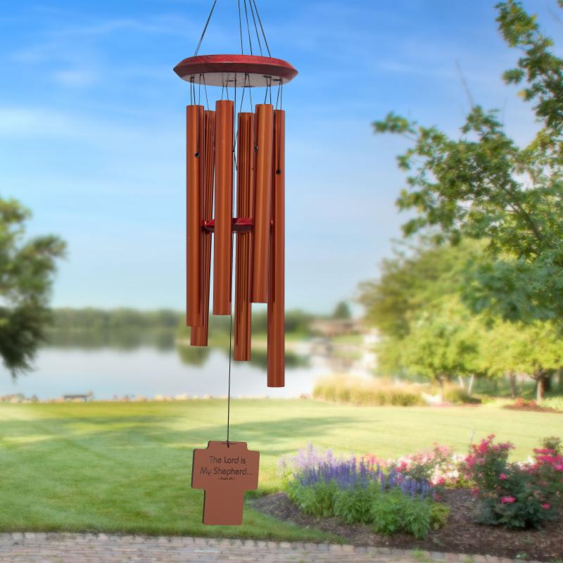 Chimes of Your Life - Psalm-23:1 - Cross - Memorial Wind Chime