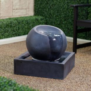 BluWorld FeatherCast Zen Bowl Outdoor Fountain