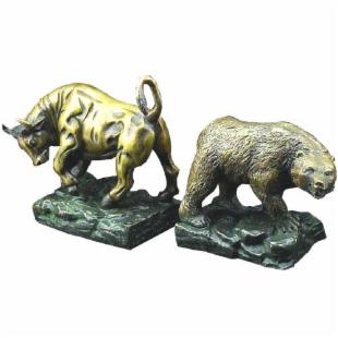 Wild Bull and Bear Bookends