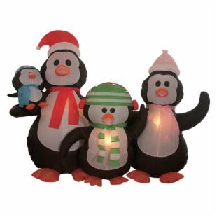 BZB Goods 5 Foot Inflatable Penguin Family