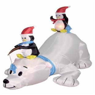 BZB Goods 6 Foot Long Inflatable Polar Bear