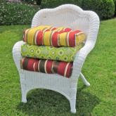  Blazing Needles 19 x 19 Outdoor Wicker Chair Cushion