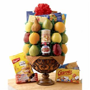 San Remo Pedestal Fruit Gift Basket