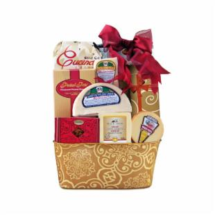 Willow Cheese and Cracker Gift Basket
