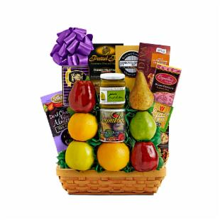 Mount Sinai Fruit &amp; Kosher Food Gift Basket