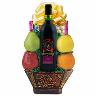 Fruit & Shiraz Wine Gift Basket