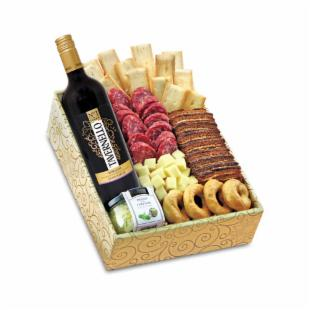 Buona Vita Italian Wine&#44; Cheese &amp; Fruit Gift Basket