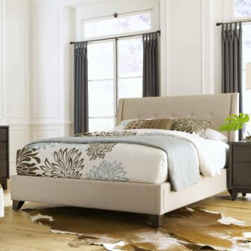 Nolan Fabric Upholstered Bed Oyster