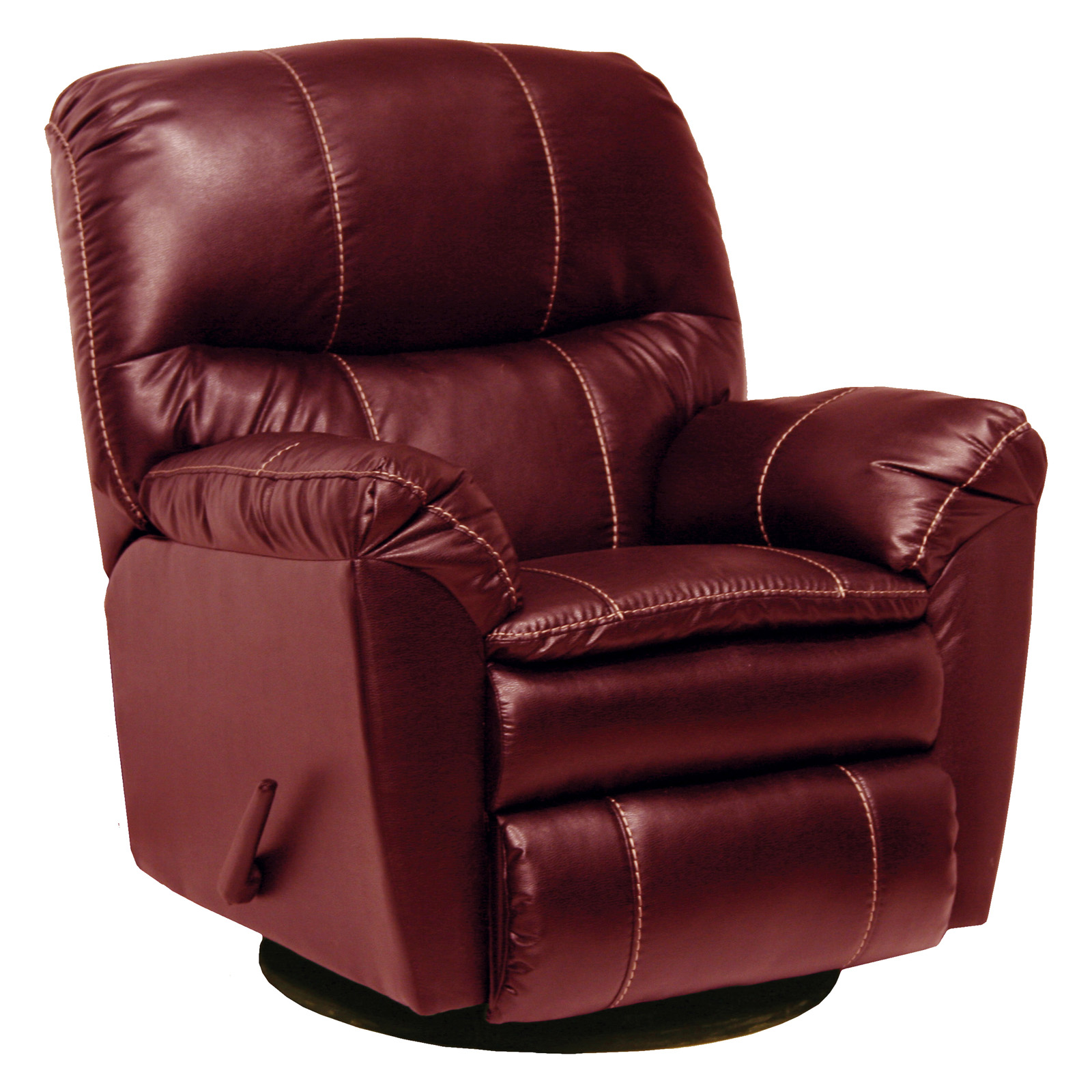 Catnapper Cosmo Bonded Leather Swivel Glider Recliner