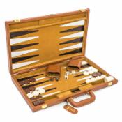 Viscount Leather Backgammon Set - 18 Inch