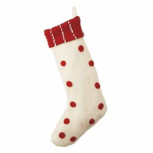 Midwest CBK Jolly Fun Red and White Polka Dot Stocking - Set of 2