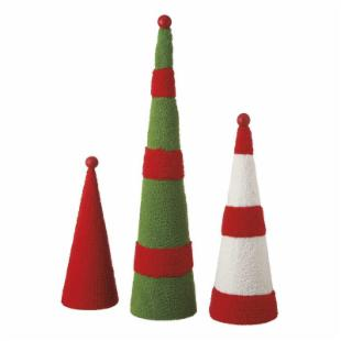 Midwest CBK Jolly Fun Cone Trees - Set of 3