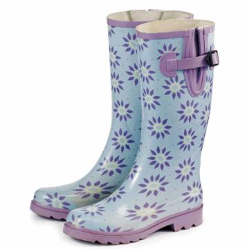 Laura Ashley Elegance Wellington Boot - Roundswood Pale Lavender