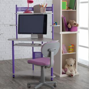 Kids Study Tower with Chair - Purple