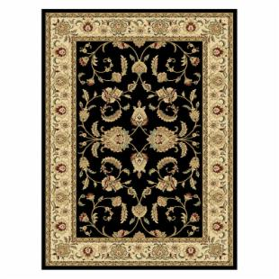 Central Oriental Radiance Amelia Area Rug - Black/Wheat