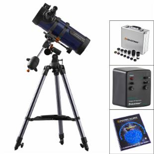 Celestron AstroMaster 114 EQ Reflector Telescope SUPER PACKAGE