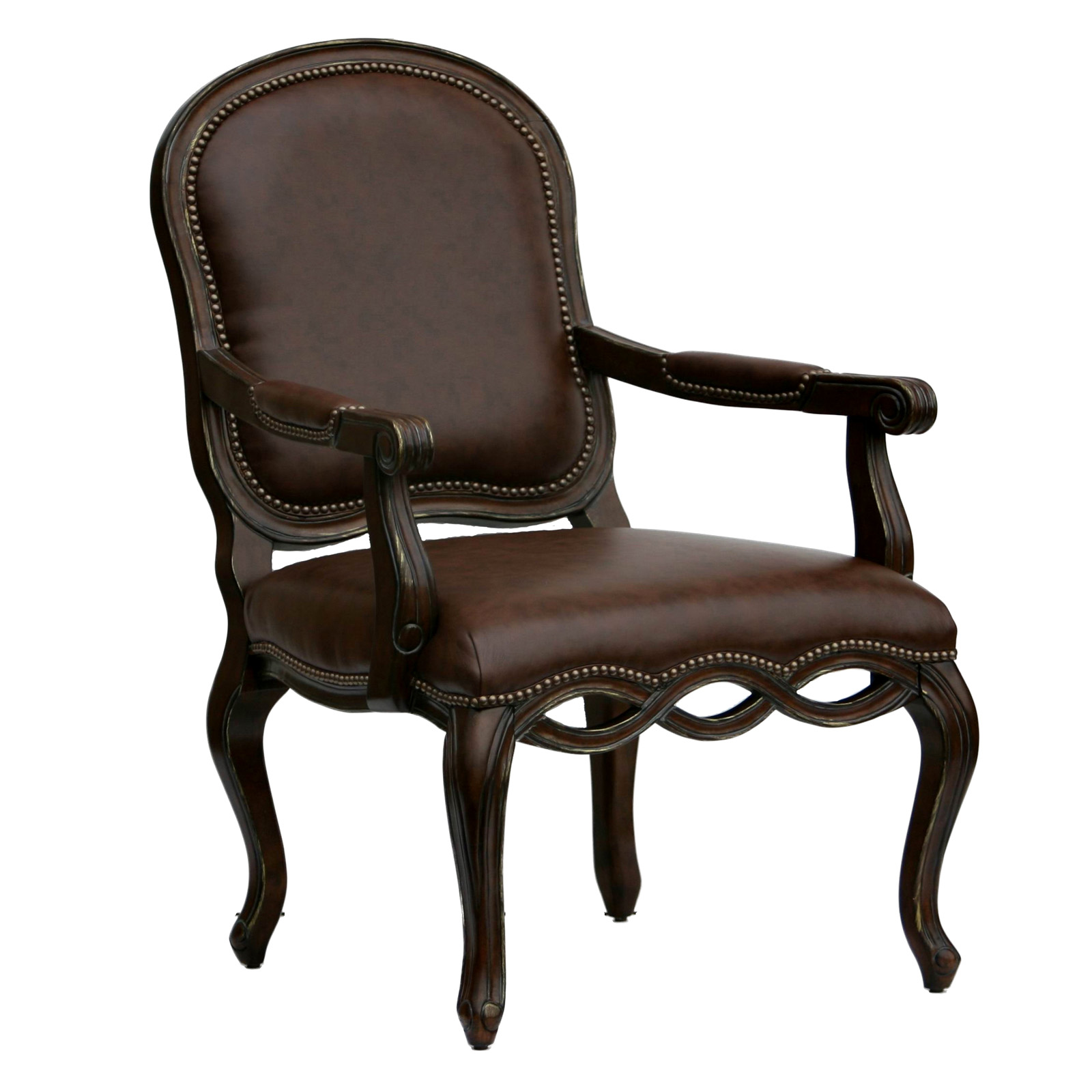 Bedford Leather Arm Chair Accent Chairs At Hayneedle