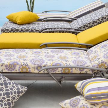 Bella Flora Outdoor Chaise Lounge Cushion