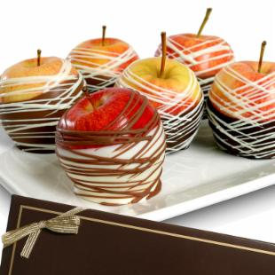 Gourmet Chocolate Dipped Washington Apples Gift Box