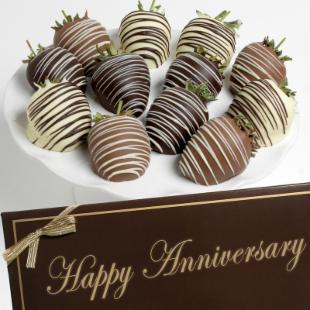Happy Anniversary Celebration Berries Gift Box