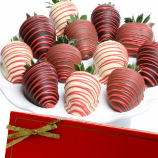 Valentine Red and White Chocolate Covered Strawberries