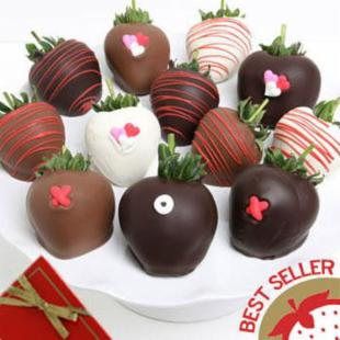 Golden Edibles XOXO Love Berries - Chocolate Covered Strawberries