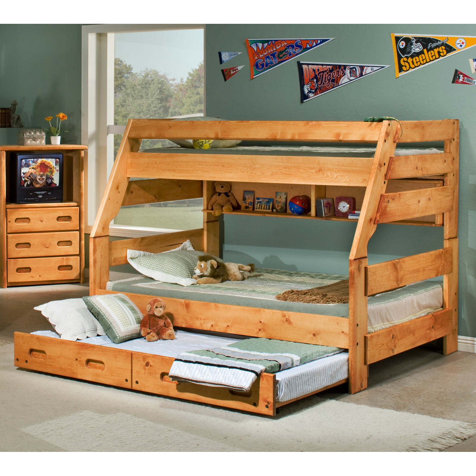 Chelsea Home Twin Over Full Bunk Bed Cinnamon Bunk