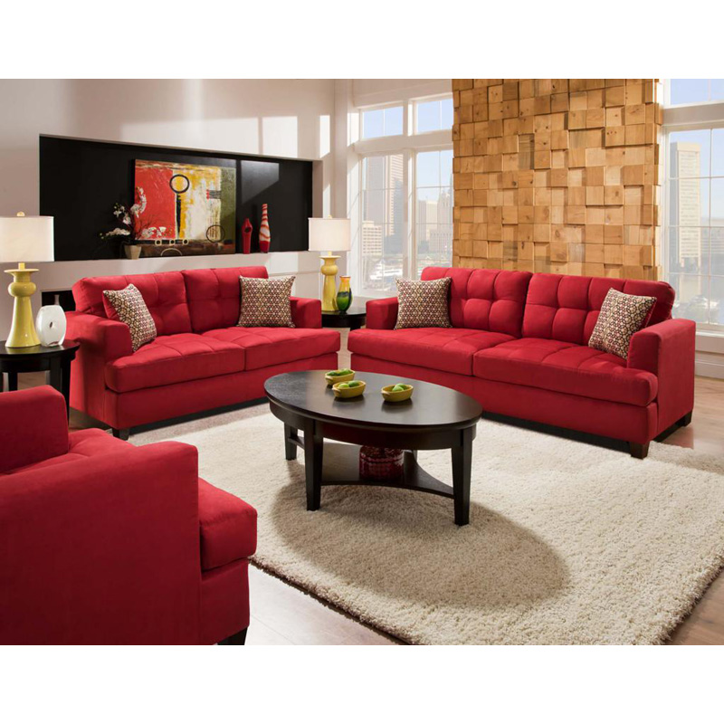 Chelsea Home Morris Sofa And Loveseat Set Calcutta Lipstick At Hayneedle