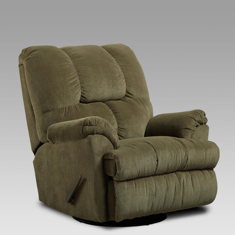 Chelsea Home Swivel Rocker Recliner - Vail Olive at Hayneedle