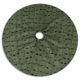 Fresco Seaweed 51 in. Round Tree Skirt