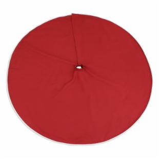 Chooty and Co Nile Poppy 51 inches Round Hemmed Tree Skirt with Creme Twist